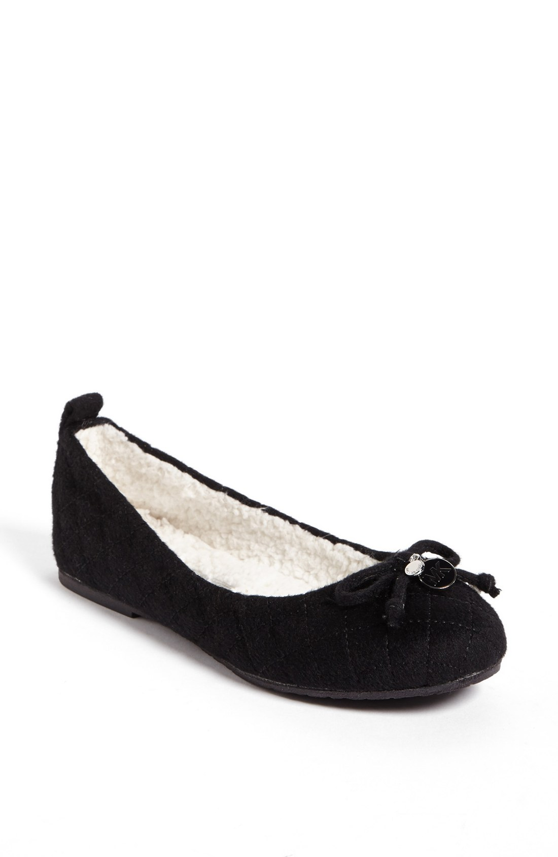 michael michael kors quinn ballet slipper in black lyst. Black Bedroom Furniture Sets. Home Design Ideas