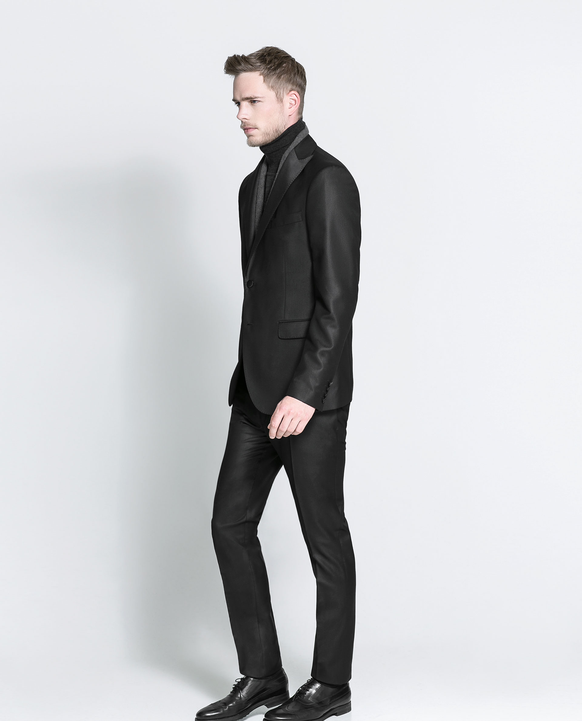 Zara Dinner Suit Trousers In Black For Men | Lyst