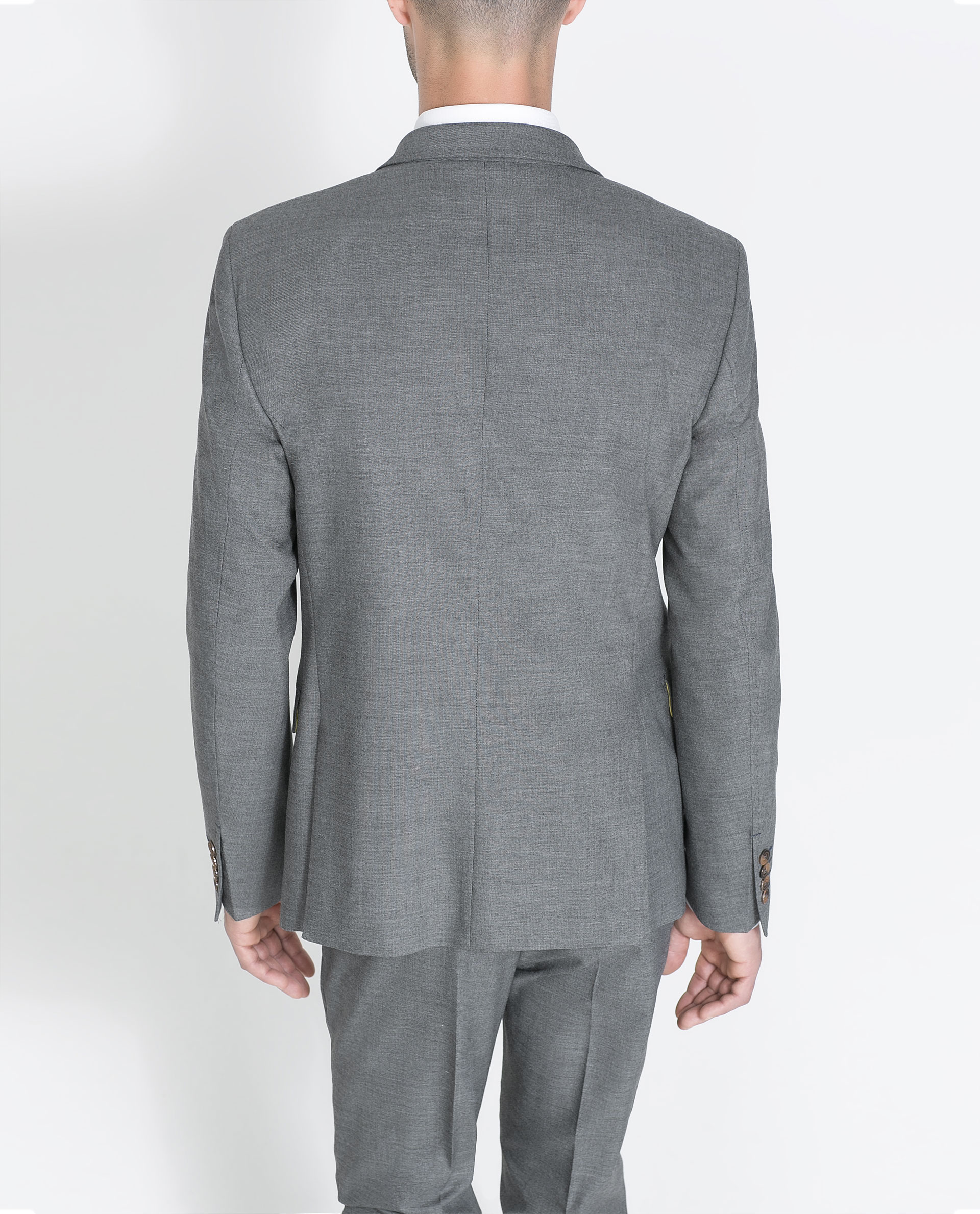 Zara Formal Blazer In Gray For Men (Grey) | Lyst