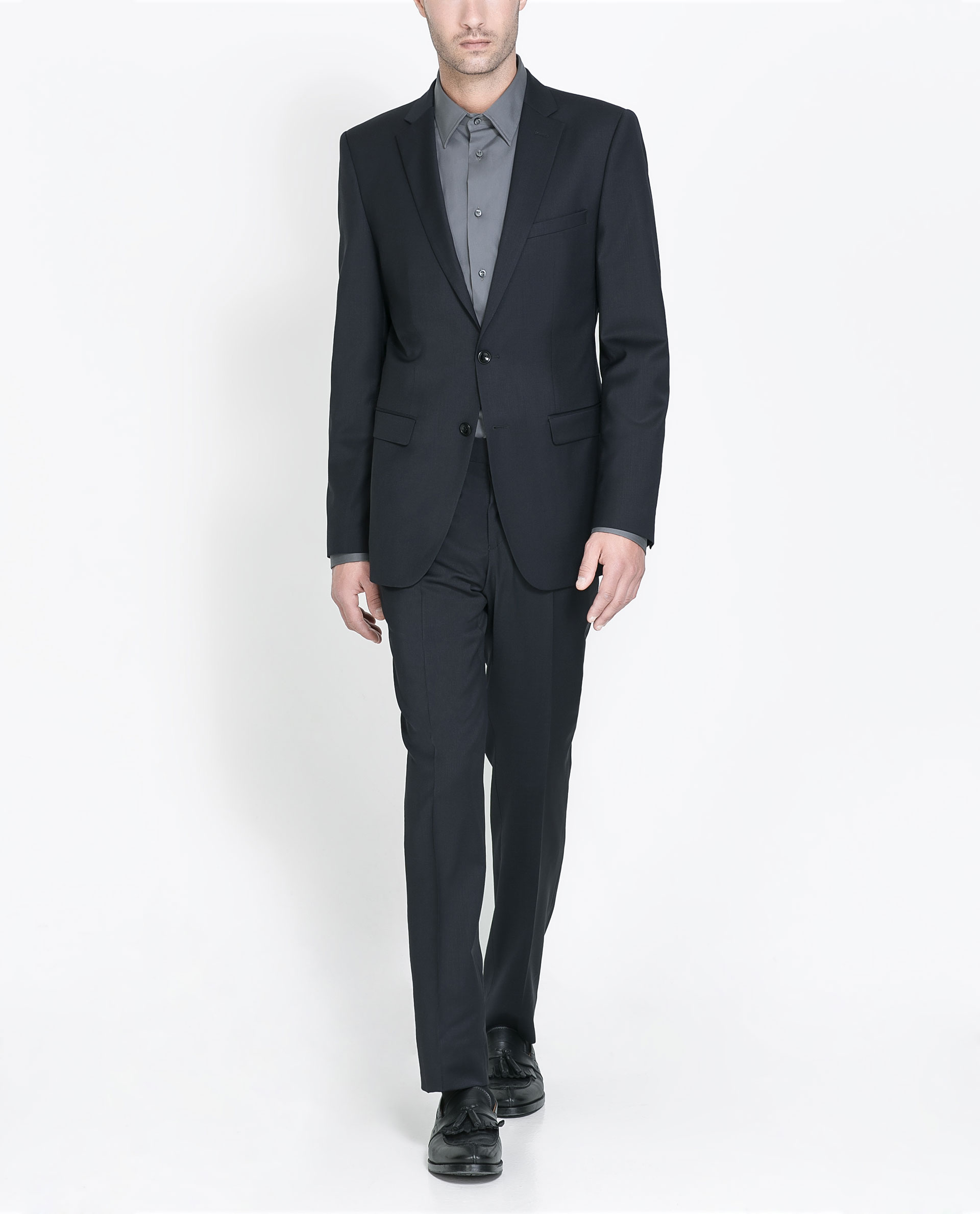 Zara Classic Suit Blazer in Blue for Men | Lyst