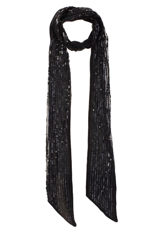 Coast Skinny Sequin Scarf in Black
