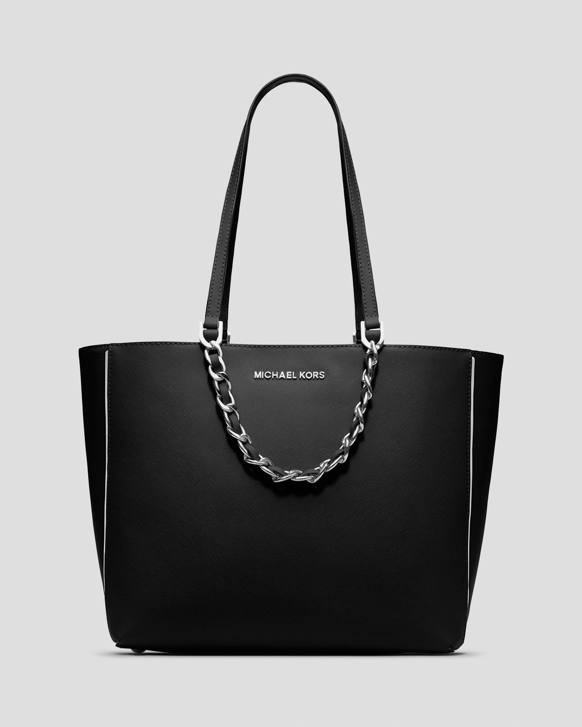michael michael kors tote harper specchio large east west in black. Black Bedroom Furniture Sets. Home Design Ideas