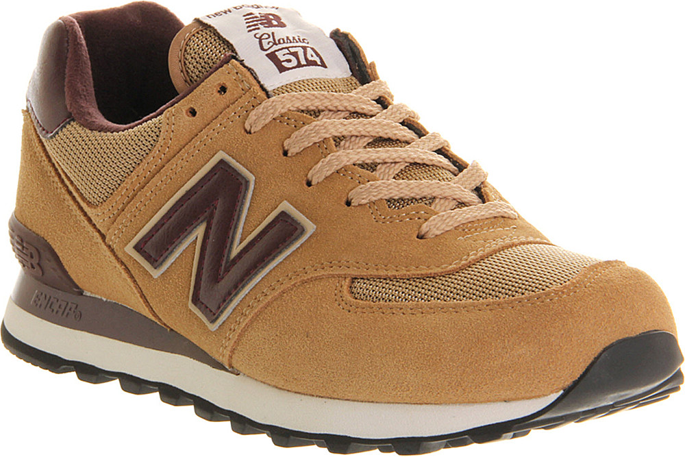 the latest ae545 0011b New Balance 574 Trainers in Natural for Men - Lyst