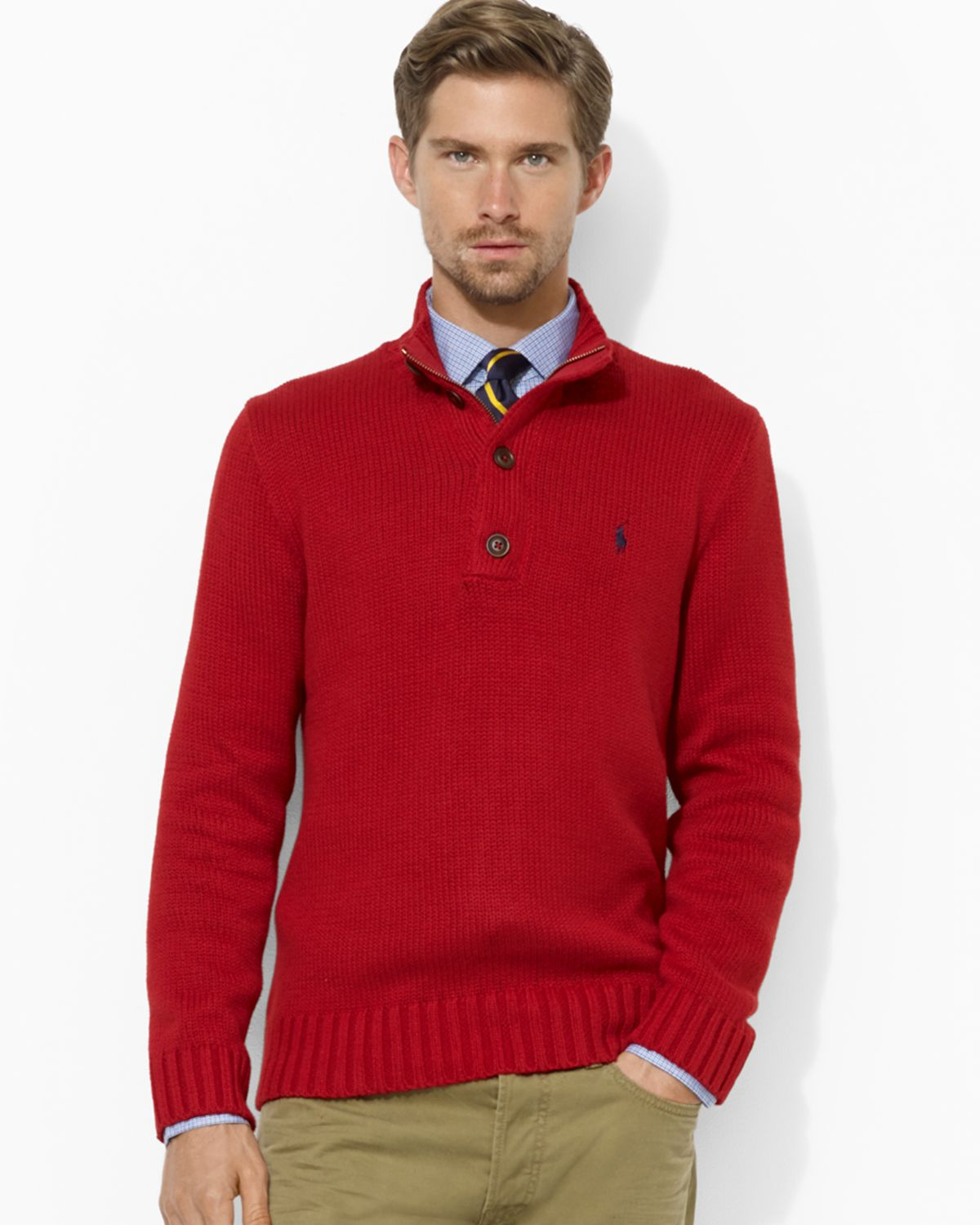 Aspesi classic cardigan ($) liked on Polyvore featuring men's fashion, men's clothing, men's sweaters, red, mens wool sweaters, mens red sweater, mens wool cardigan sweaters, mens red cardigan sweater and mens cardigan sweaters.