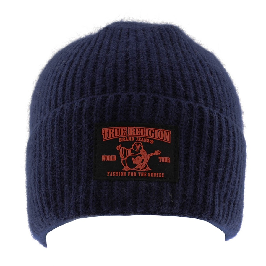 6f696d79a8b Lyst - True Religion Ribbed Beanie Hat in Blue for Men