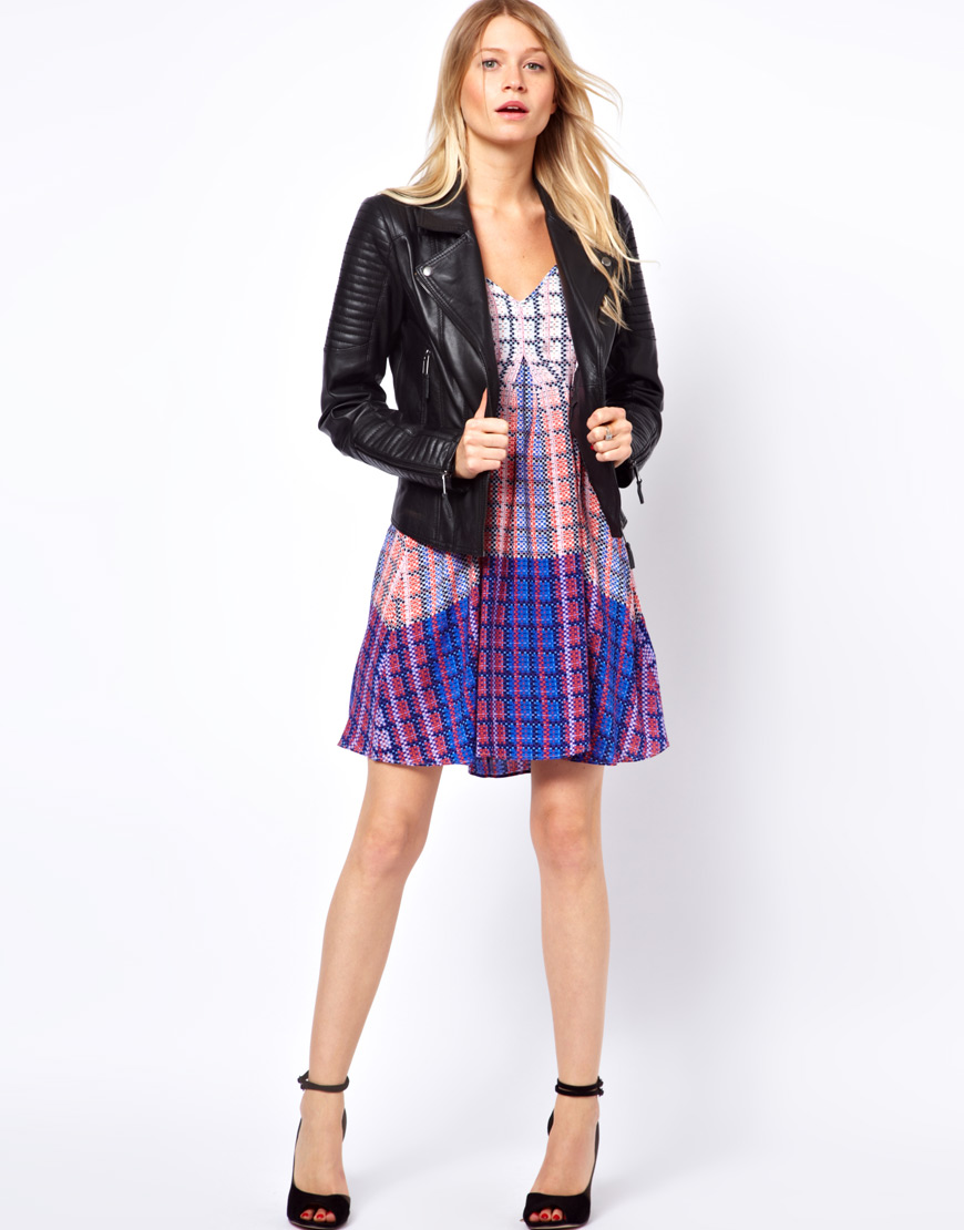 Asos Oasis Quilted Leather Jacket in Black | Lyst : asos quilted leather jacket - Adamdwight.com