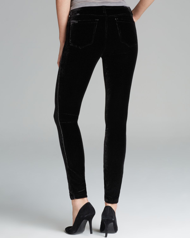 Lyst - Blank Jeans Black Velvet Skinny in Black