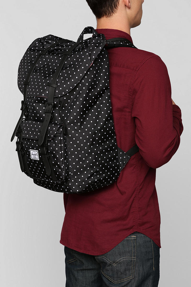 1f853a26bbf Lyst - Urban Outfitters Herschel Supply Co Polka Dot Little America ...