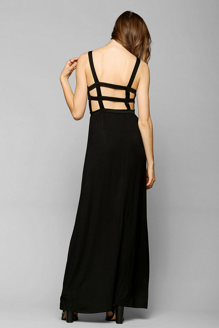 Sparkle and fade black maxi dress