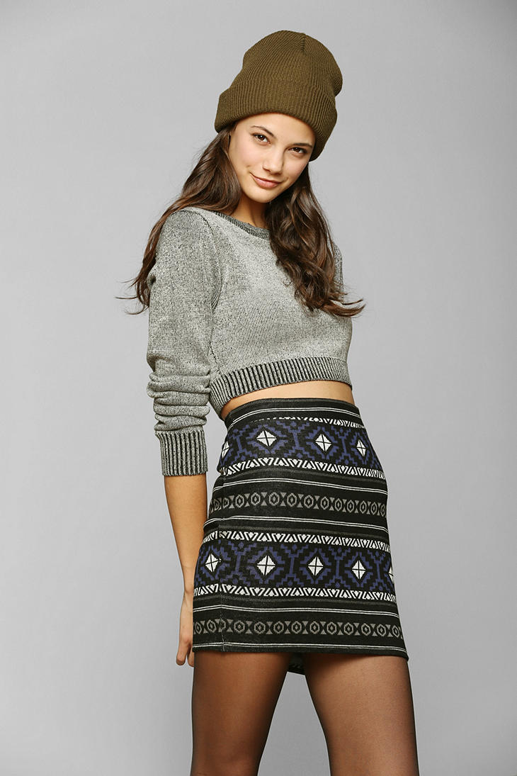 Urban Outfitters Staring At Stars Intarsia Knit Skirt Lyst