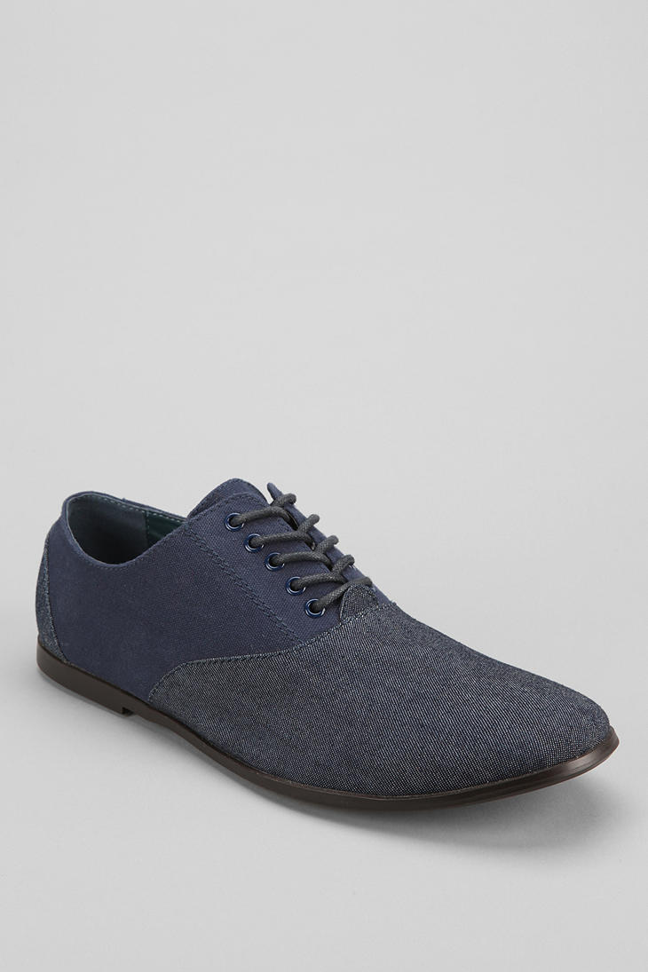 Urban Outfitters Hawkings Mcgill Fabric Oxford Shoe In Blue For Men (NAVY) | Lyst
