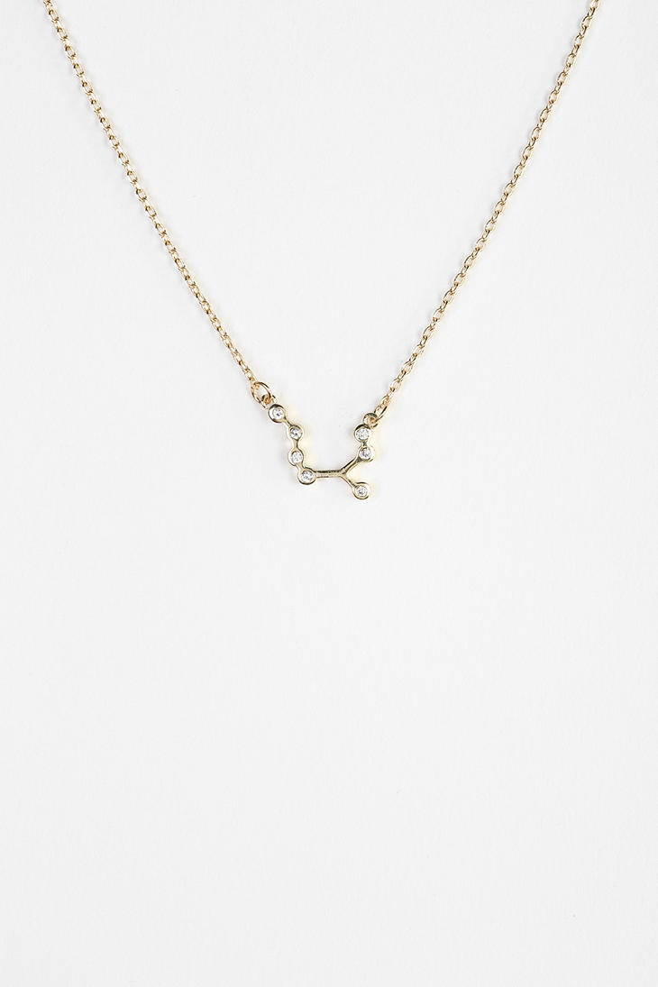 outfitters constellation necklace in metallic lyst