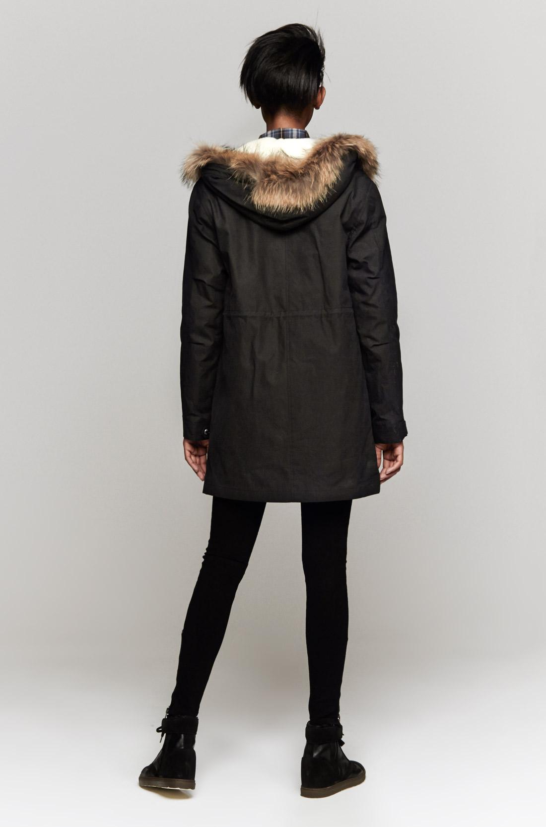 Lyst - A.P.C. Winter Parka in Black 5027567eaed5