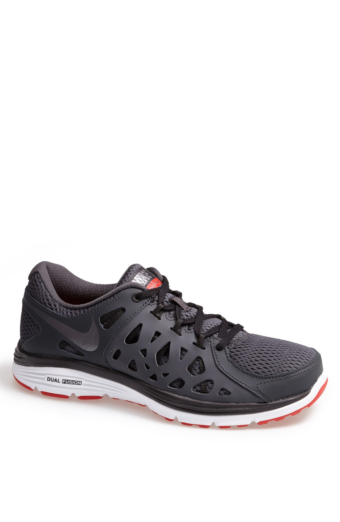 nike dual fusion run 2 running shoe in gray for men anthracite cool grey black lyst. Black Bedroom Furniture Sets. Home Design Ideas