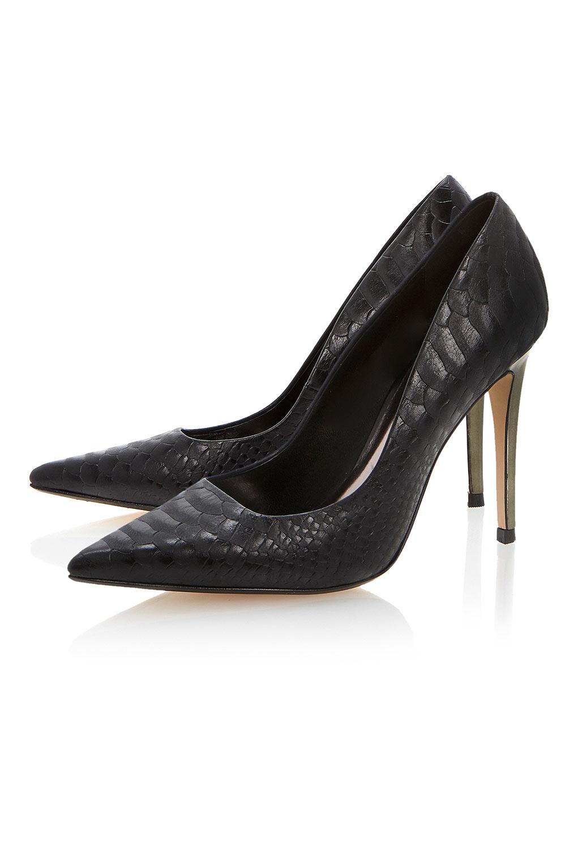 Topshop Black Court Shoes