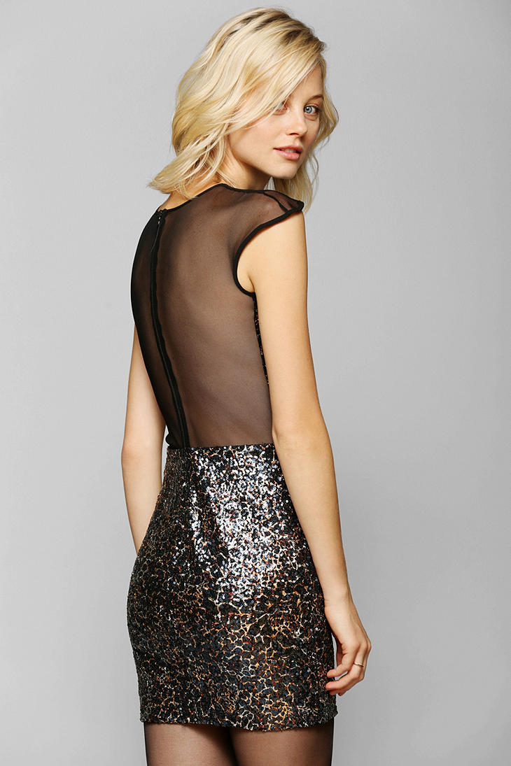 Urban Outfitters Dress The Population Aubrey Sequin