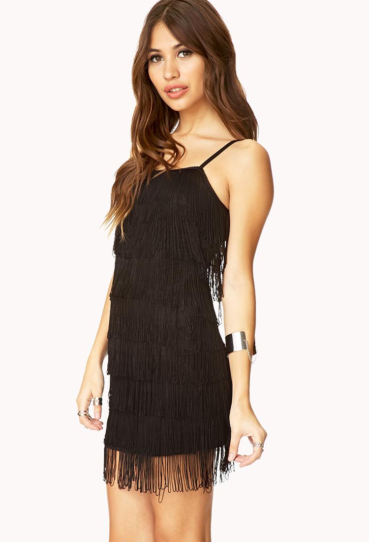 Black Fringe Dress Forever 21