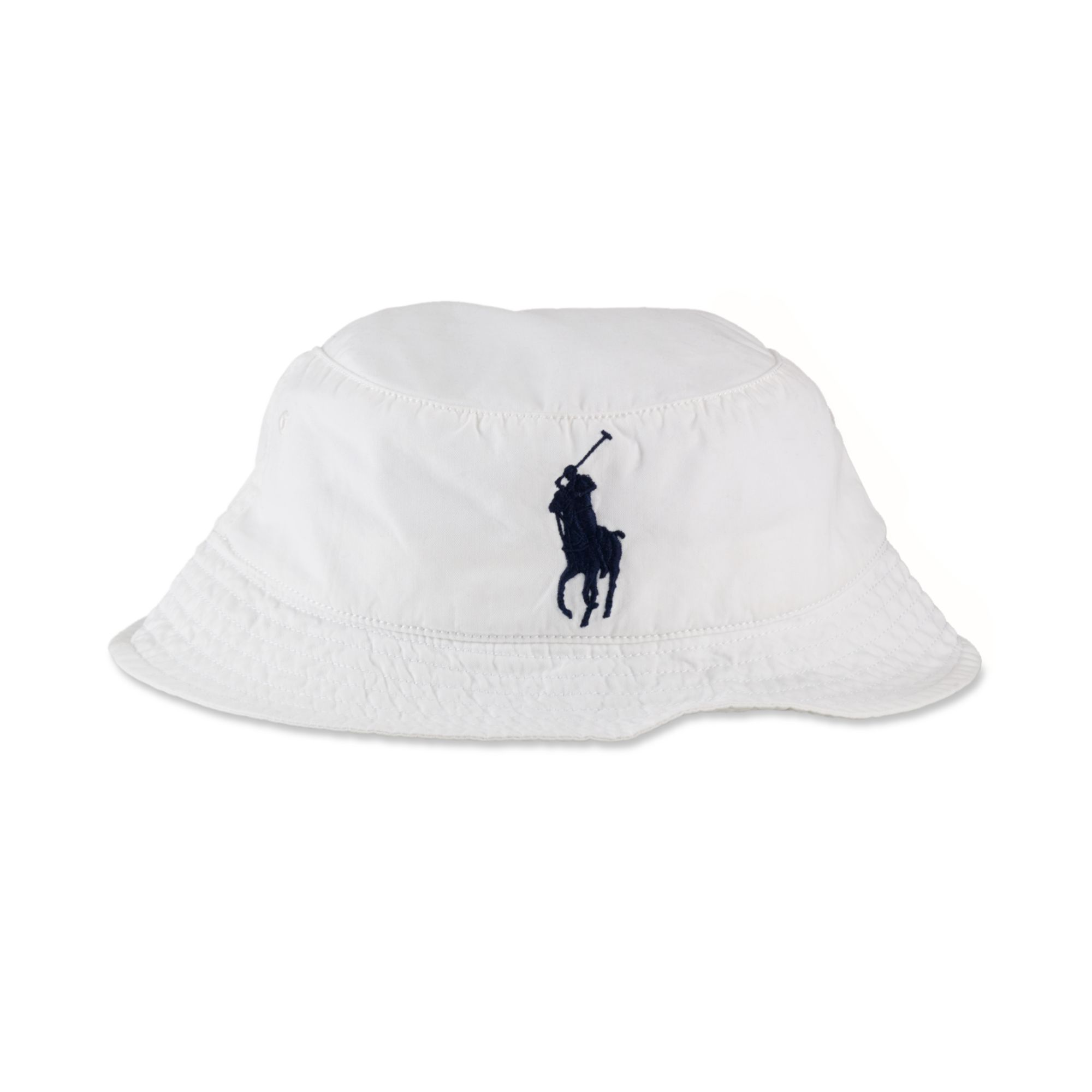 Lyst - Ralph Lauren Bucket Hat in White for Men 45df1c8c8c5