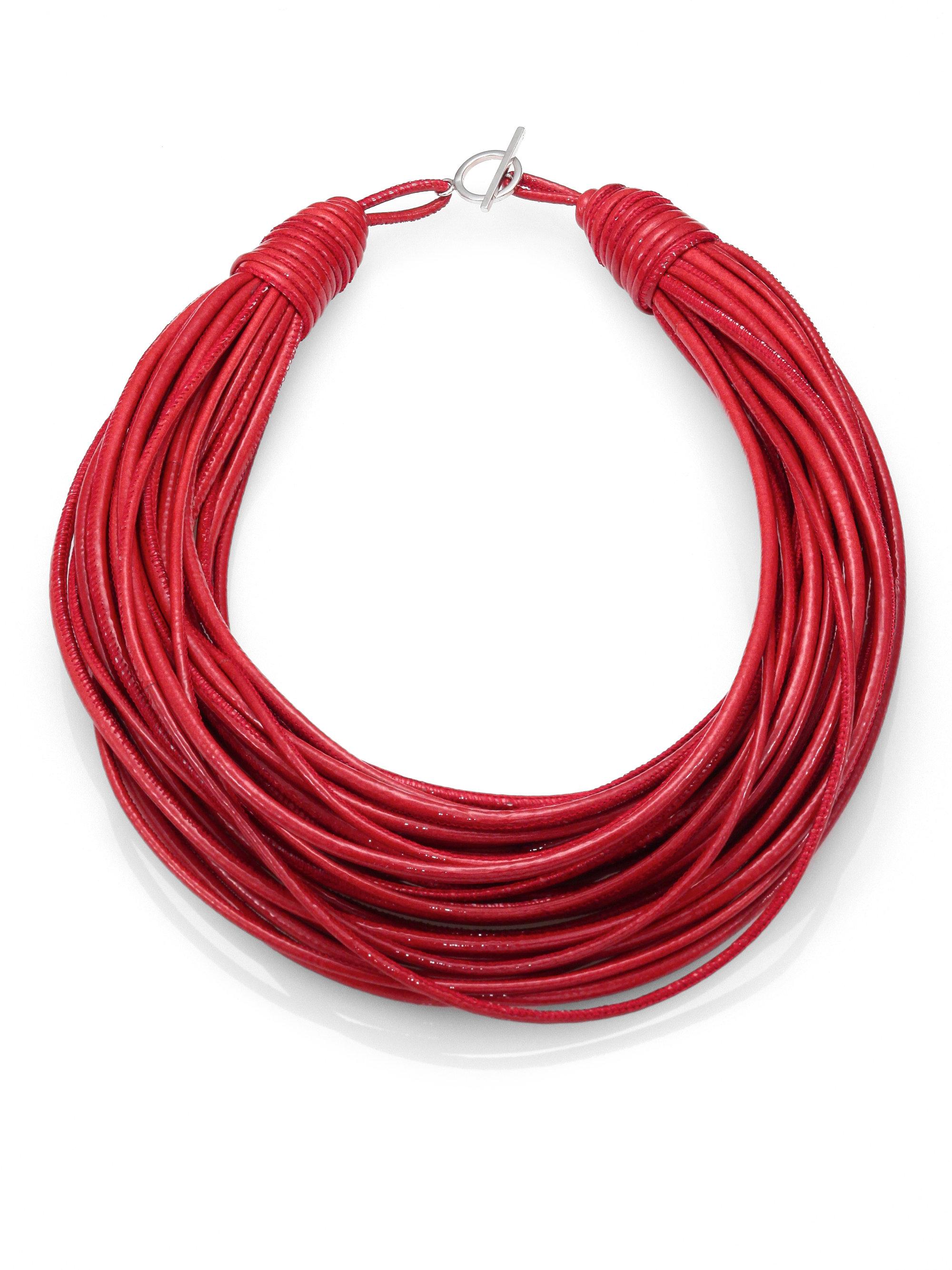 lyst brunello cucinelli patent leather cord multistrand