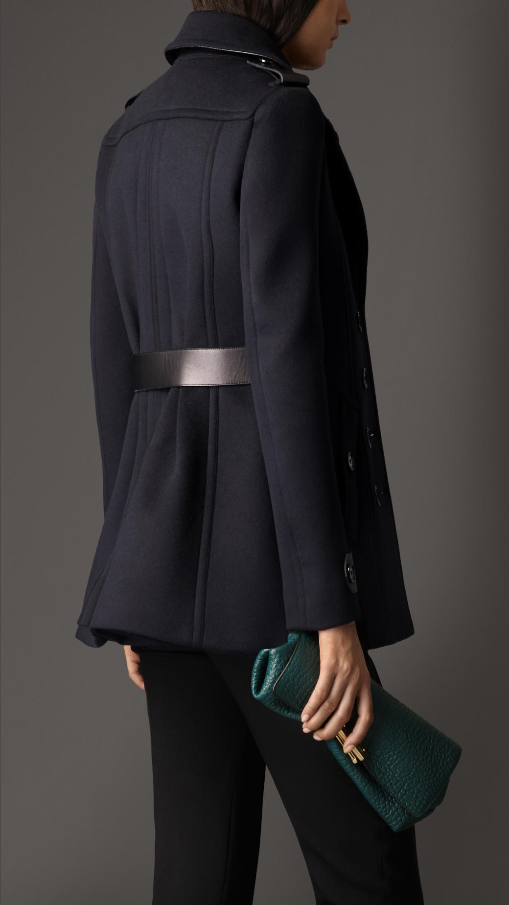 Burberry Tailored Wool Cashmere Pea Coat In Blue Lyst