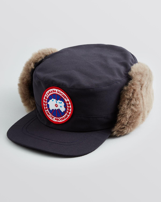 c938e49ff0a Lyst - Canada Goose Classique Shearling Hat in Blue for Men