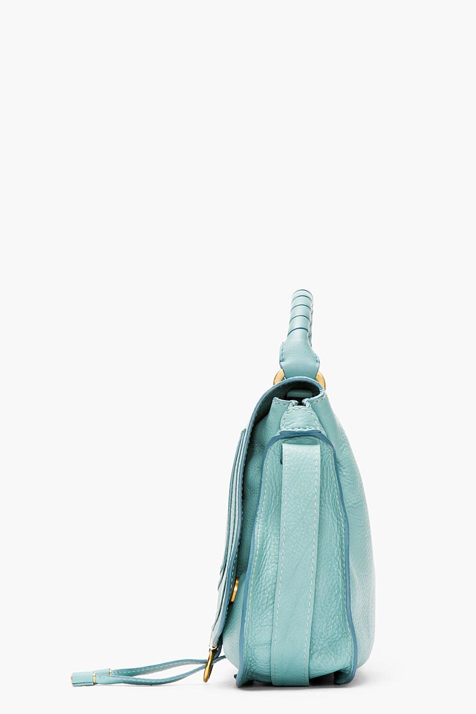 Chlo¨¦ Mint Green Leather Marcie Medium Handbag in Blue (mint) | Lyst