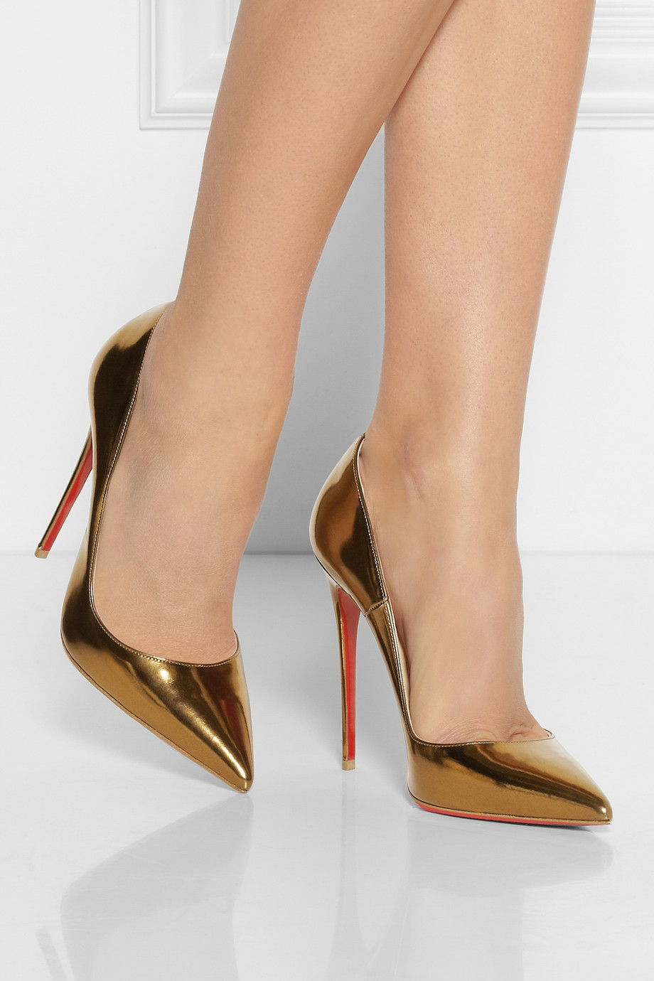0873baec7478 Christian Louboutin So Kate 120 Patentleather Pumps in Metallic - Lyst