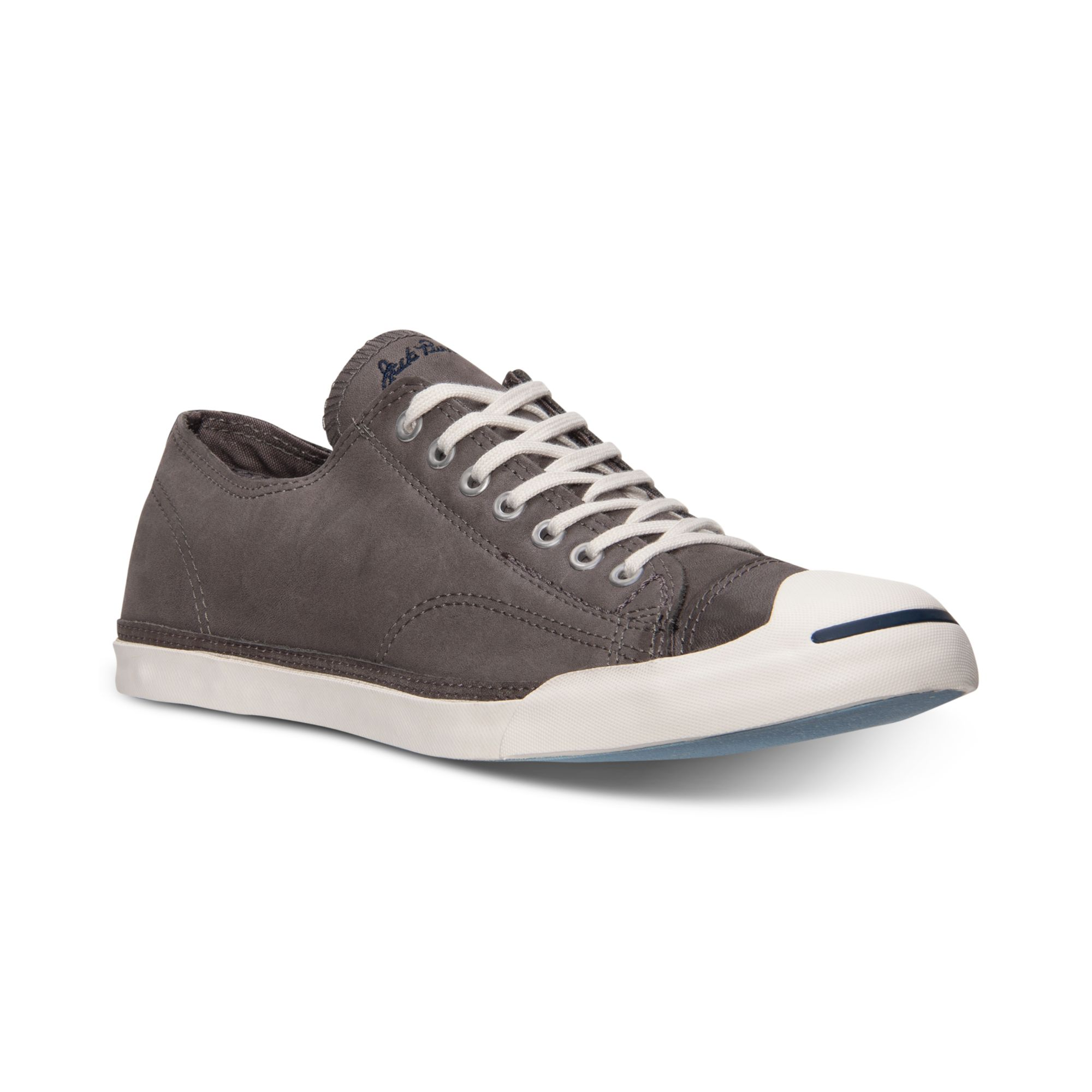 Converse mens jack purcell lp casual sneakers from finish - Graue converse ...