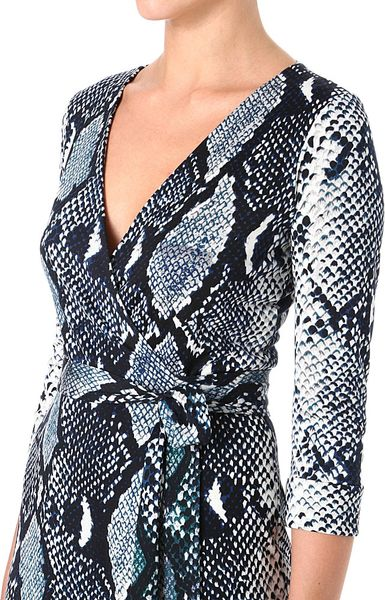 Diane Von Furstenberg Wrap Around Snake Julian Dress In
