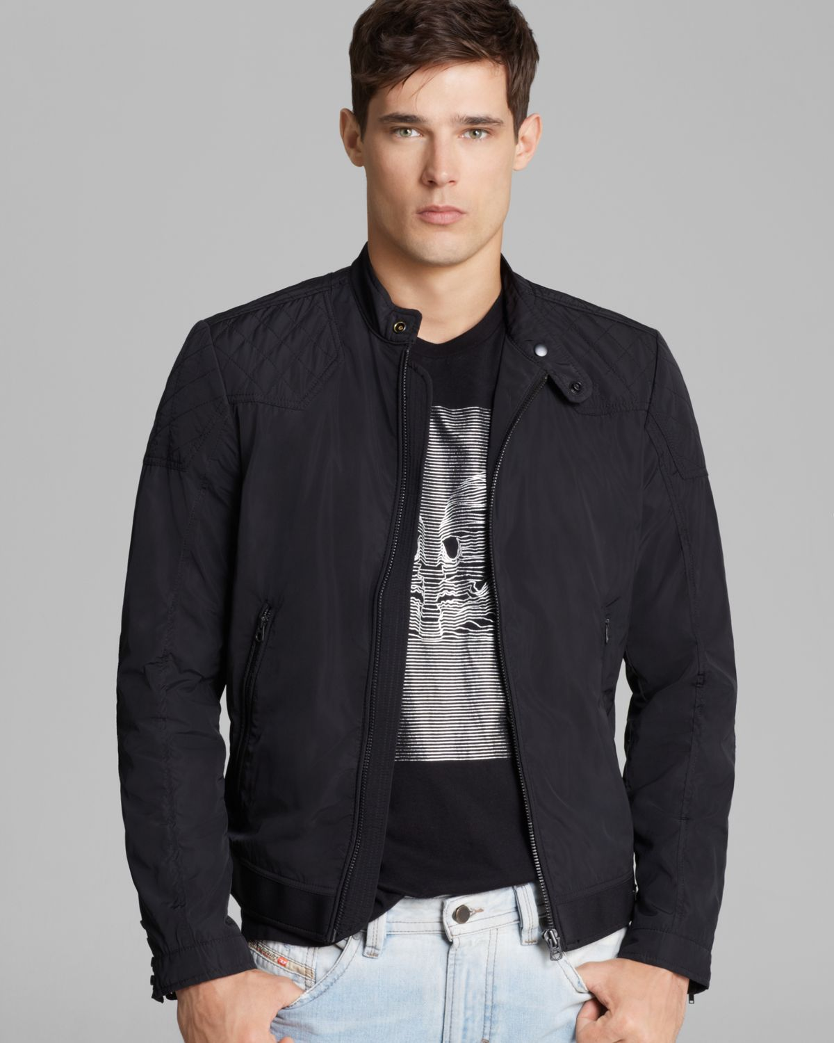 Diesel Jhollis Lightweight Jacket in Blue for Men | Lyst