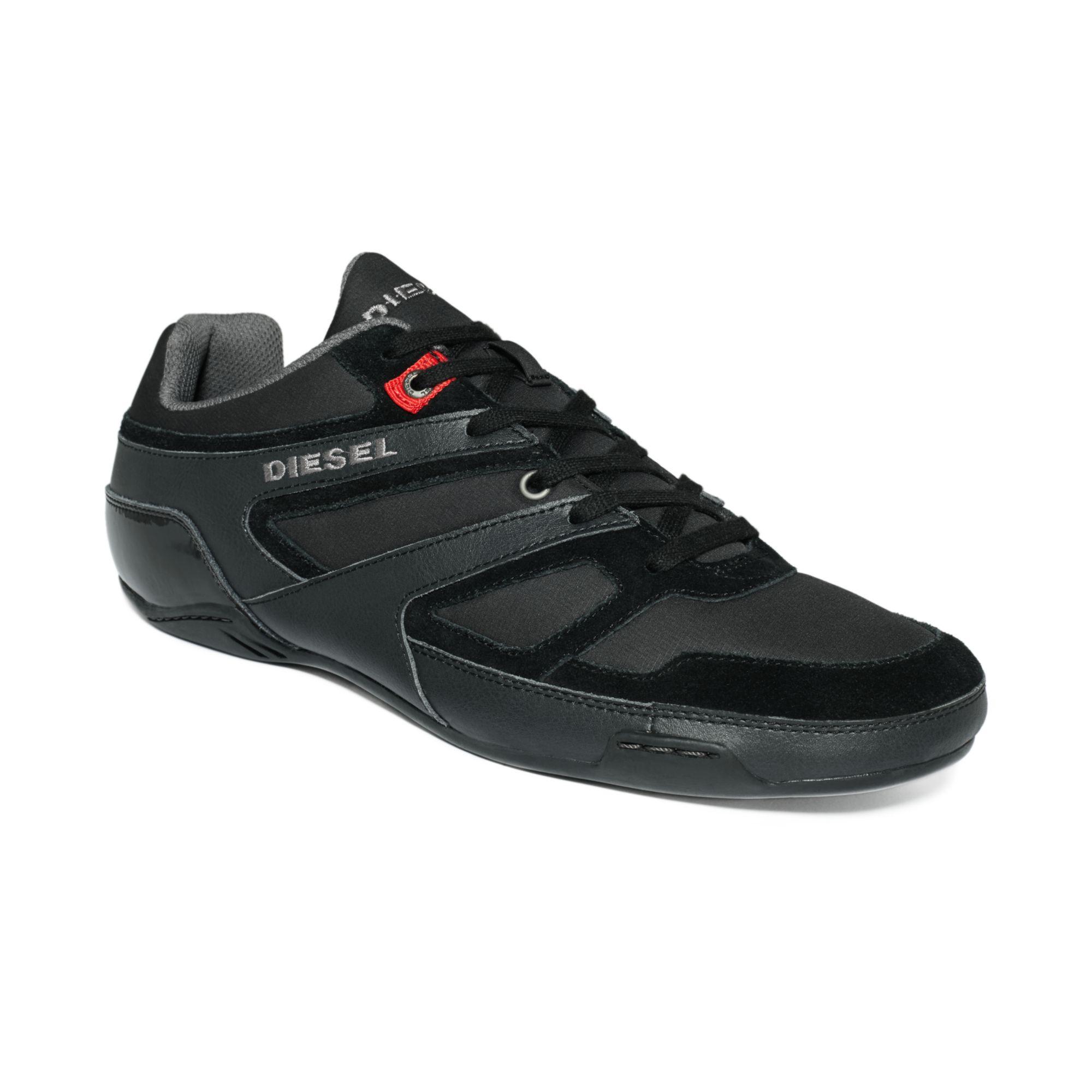 diesel trackkers smatch sneakers in black for lyst