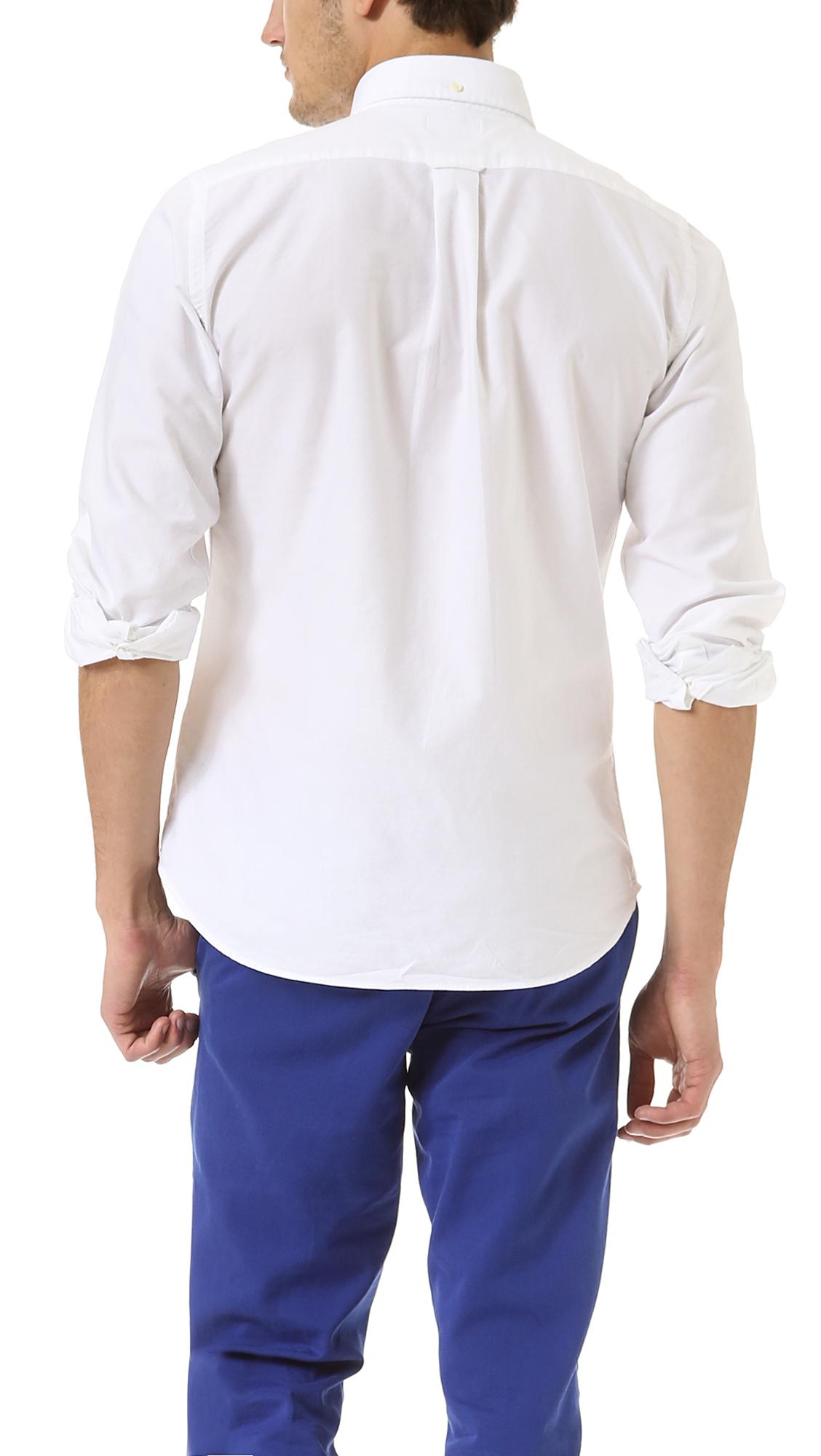 Gant Rugger Kick Ass Oxford Shirt in White for Men