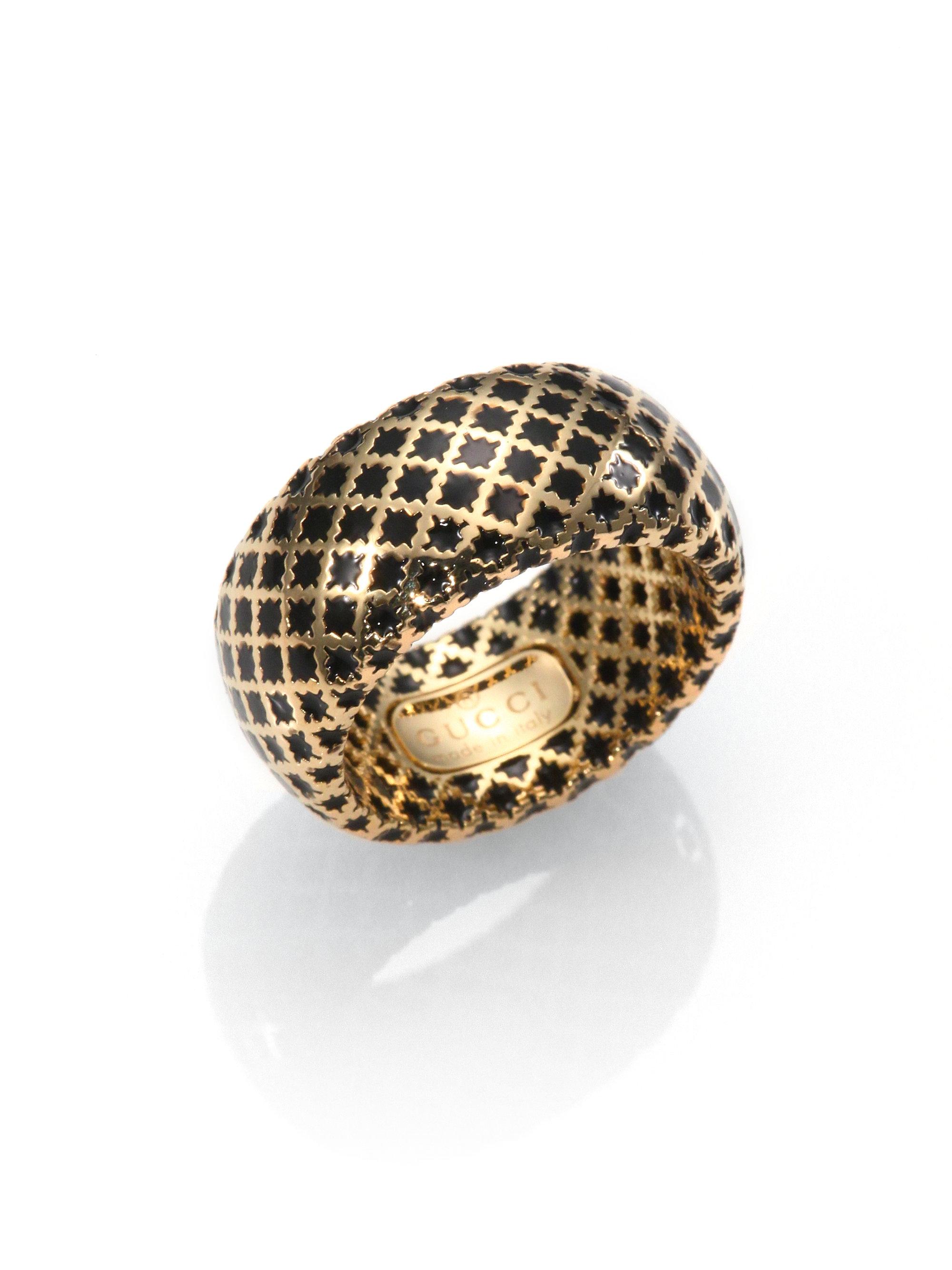 Gucci Diamantissima Enamel Ring