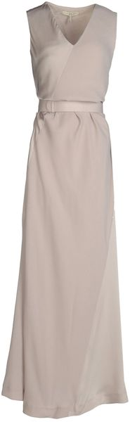 Halston Heritage Long Dresses in Gray (dove grey)
