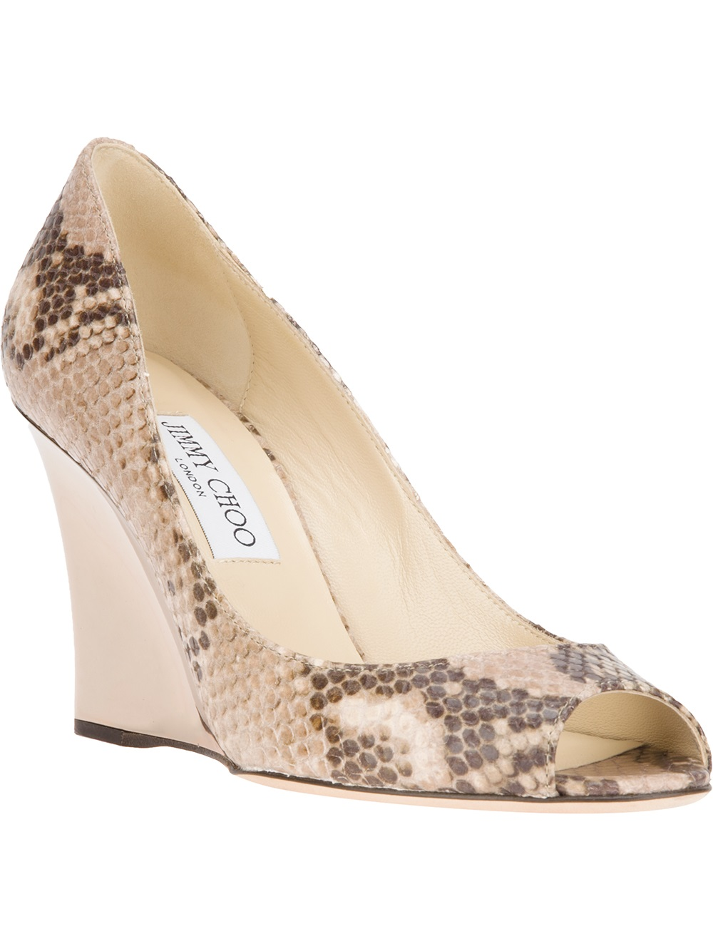 afb585ebfe0 Lyst - Jimmy Choo Baxen Wedge Pump in Natural