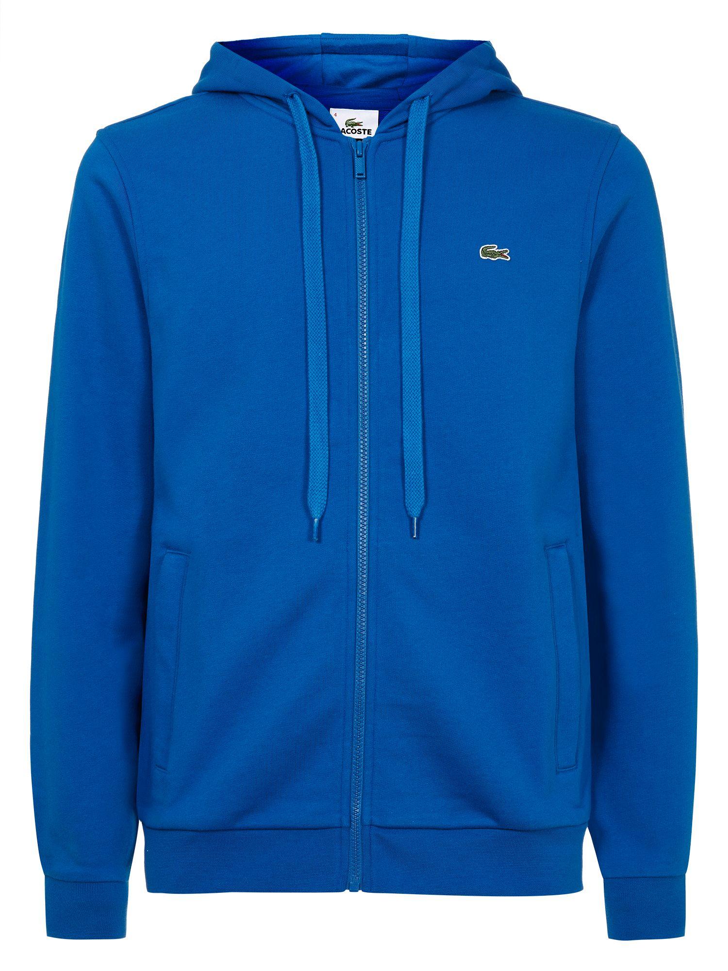 Lacoste Zip Hooded Sweater in Blue for Men | Lyst