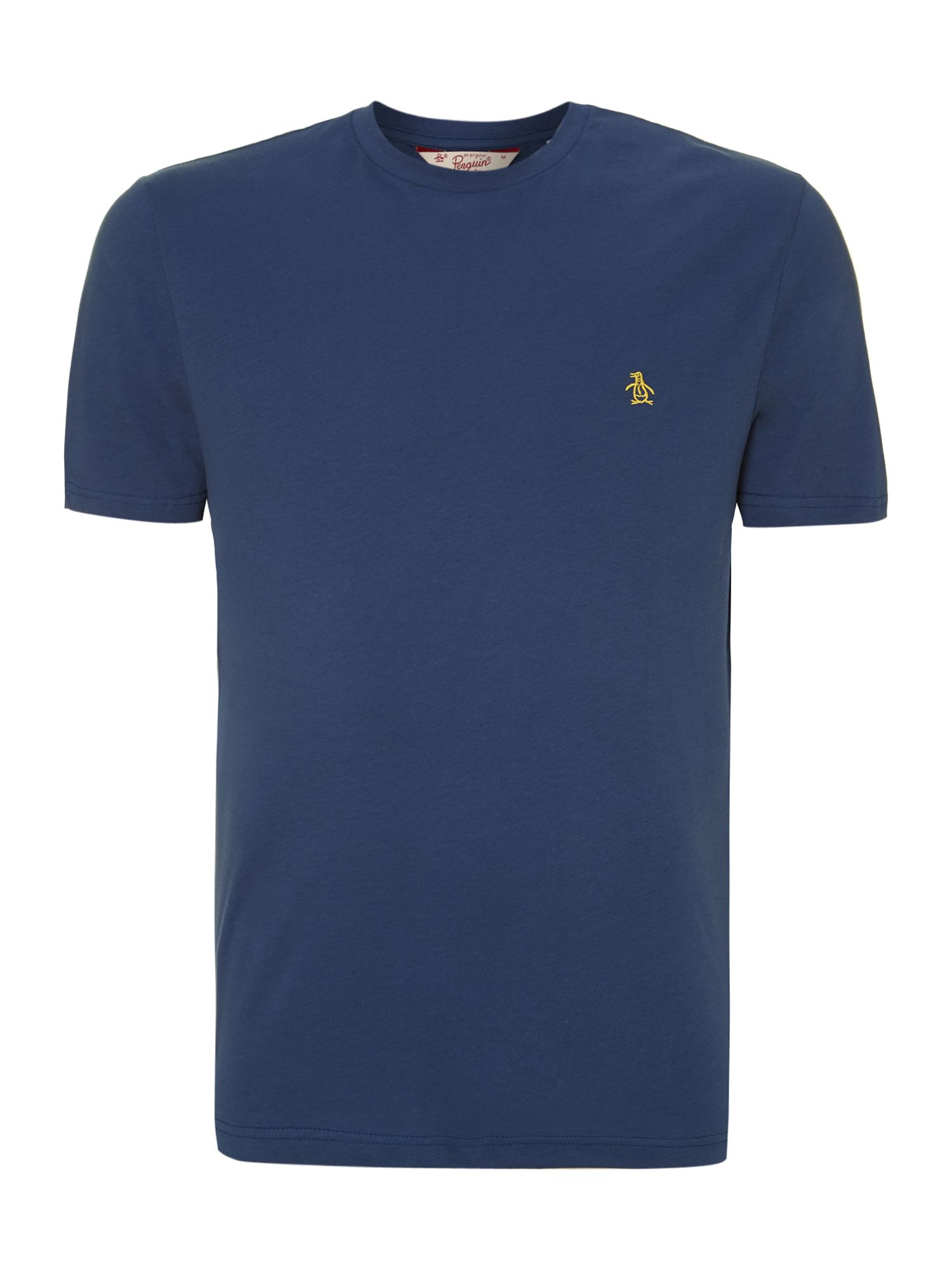 Original Penguin Embroidered Logo Crew T Shirt In Blue For