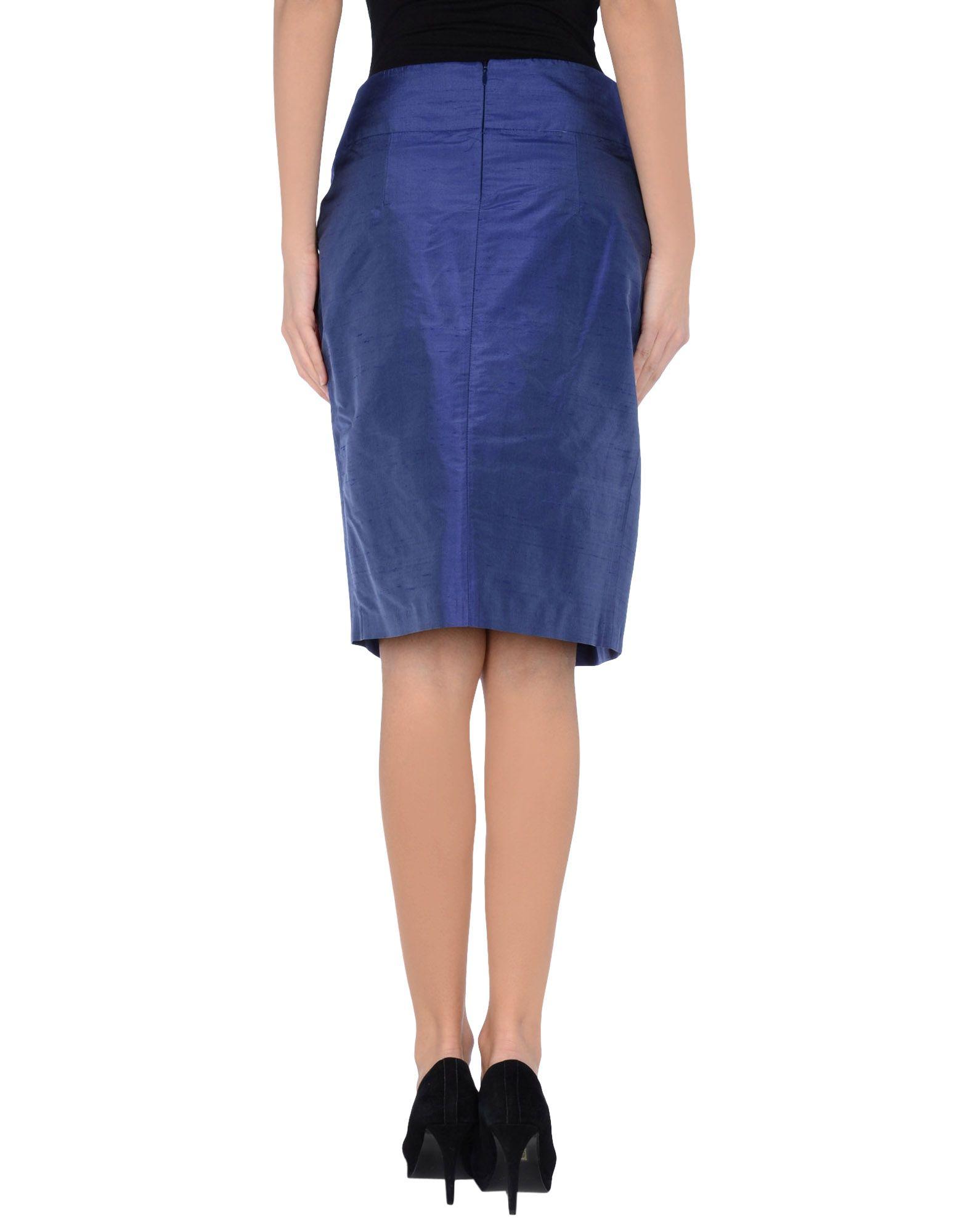 peserico knee length skirt in blue bright blue lyst