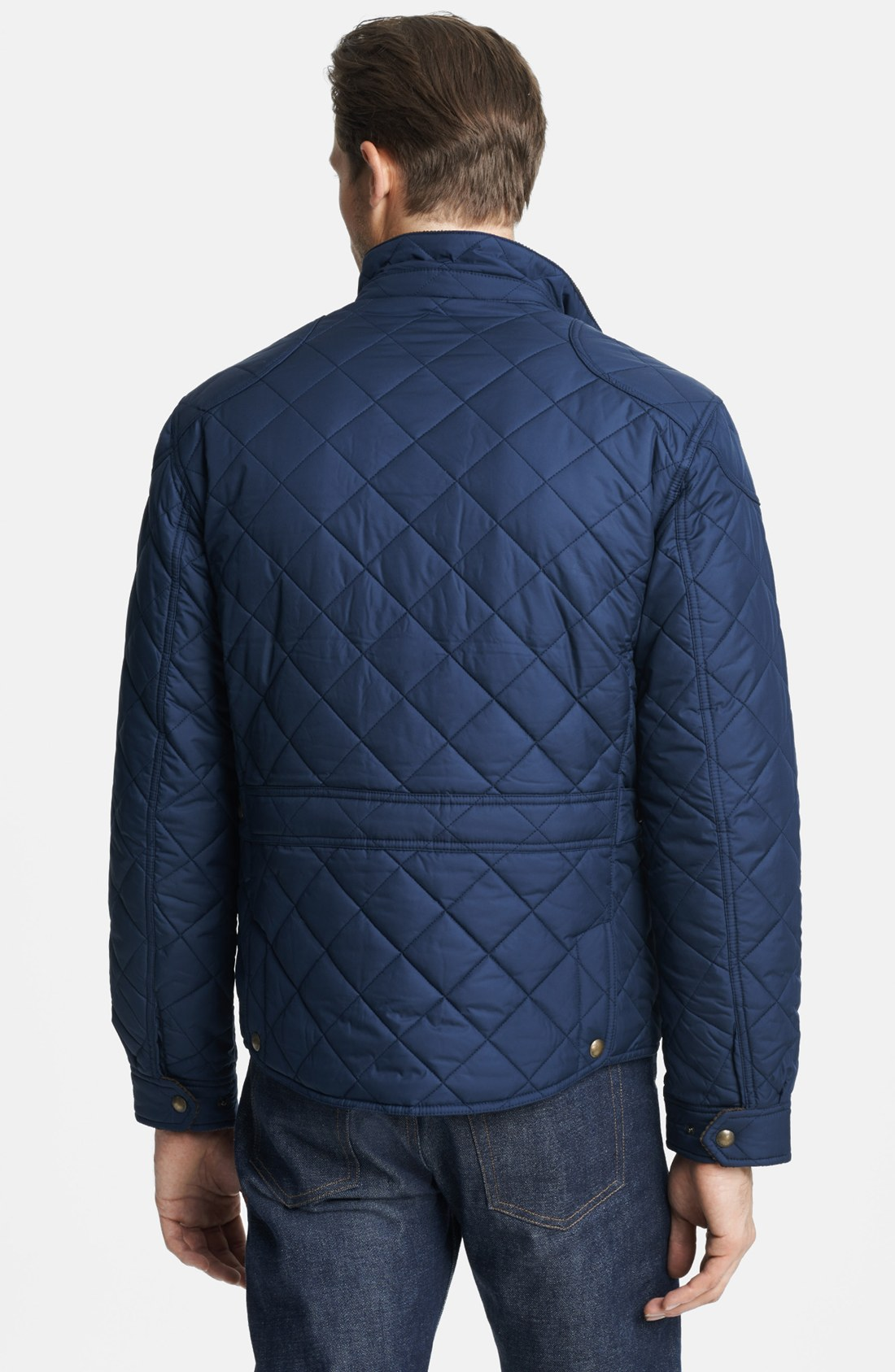 Polo Ralph Lauren Cadwell Quilted Bomber Jacket In Blue