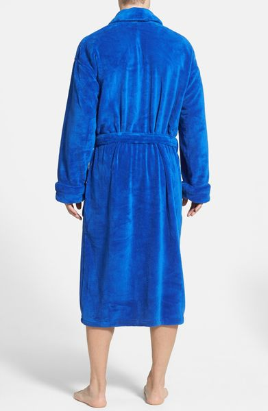 polo ralph lauren microfiber robe in blue for men rugby royal lyst. Black Bedroom Furniture Sets. Home Design Ideas
