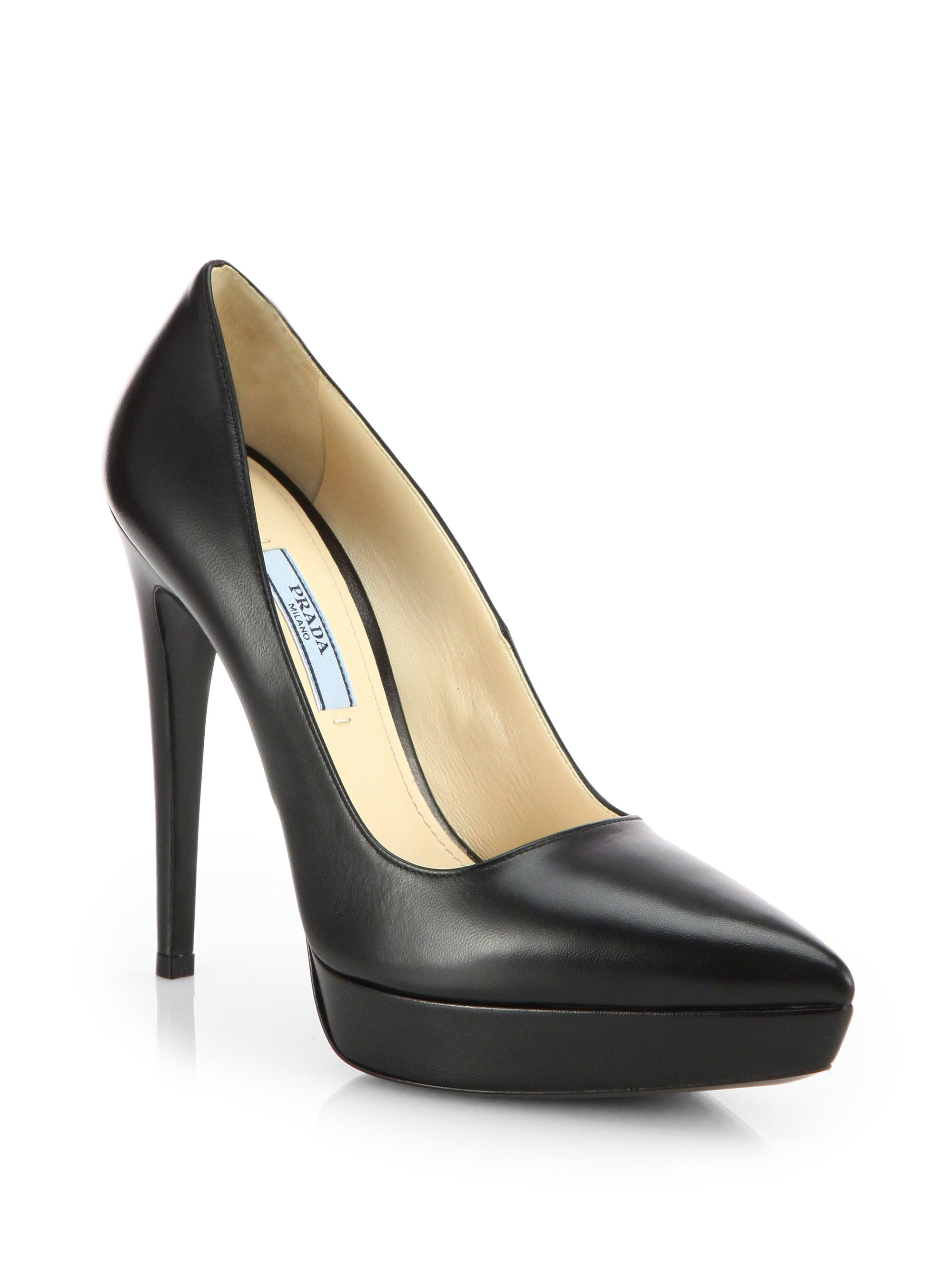 Prada Leather plateau pumps Explore Sale Browse dc5N3SrPg