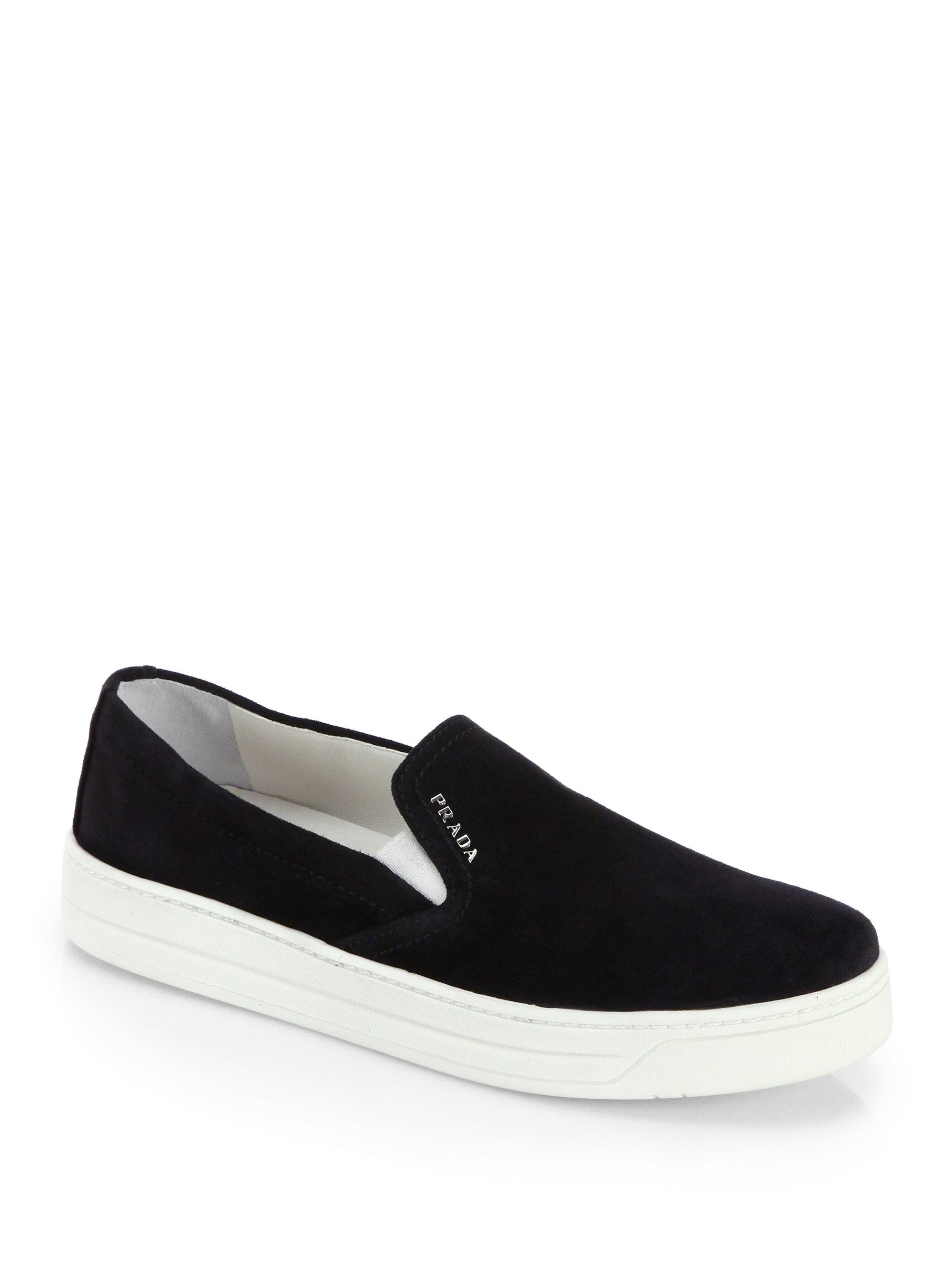 Prada Black Laceless Sneakers n3xYwhoteM