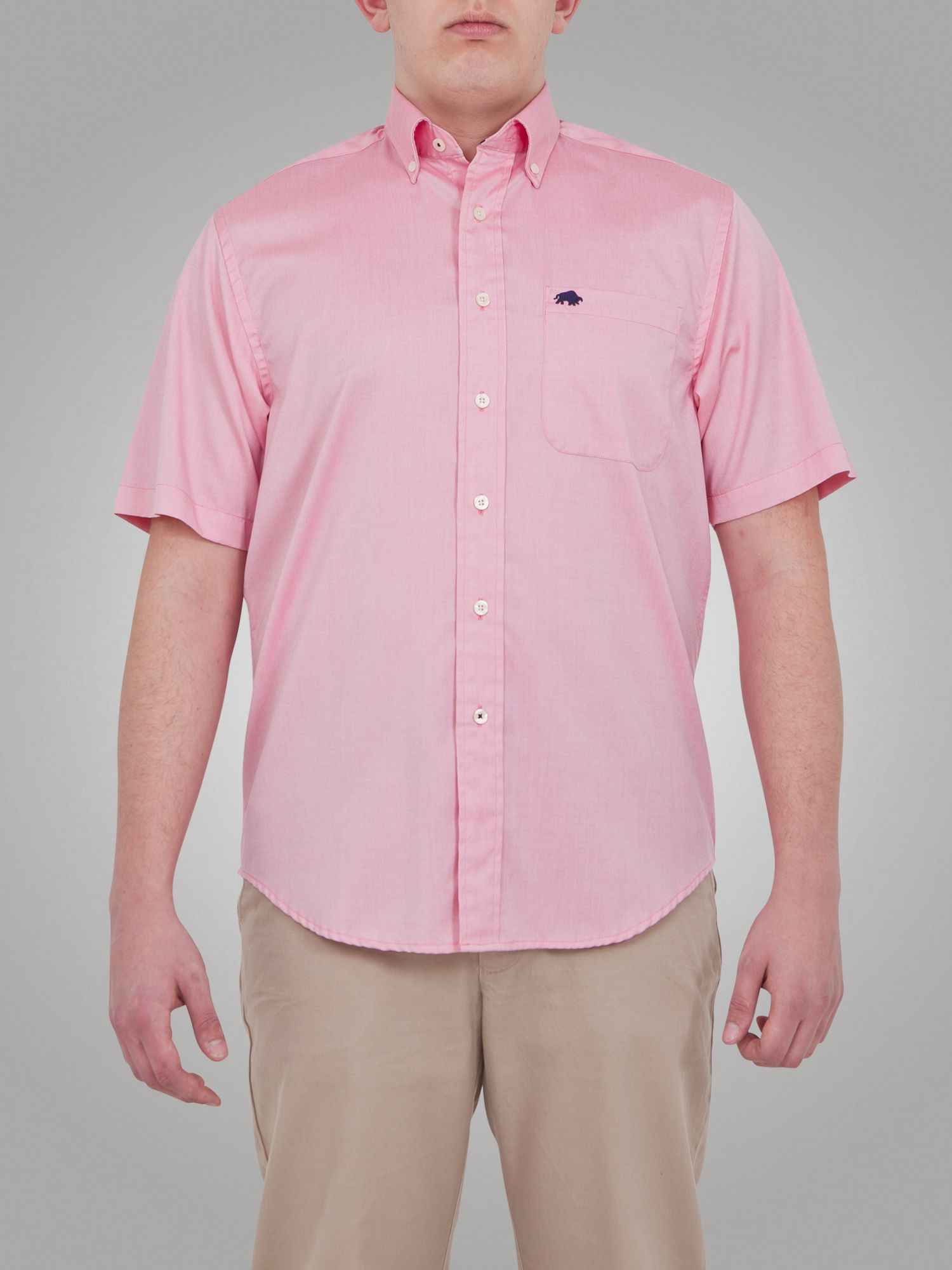 Raging bull big and tall s s oxford shirt in pink for men for Big and tall oxford shirts