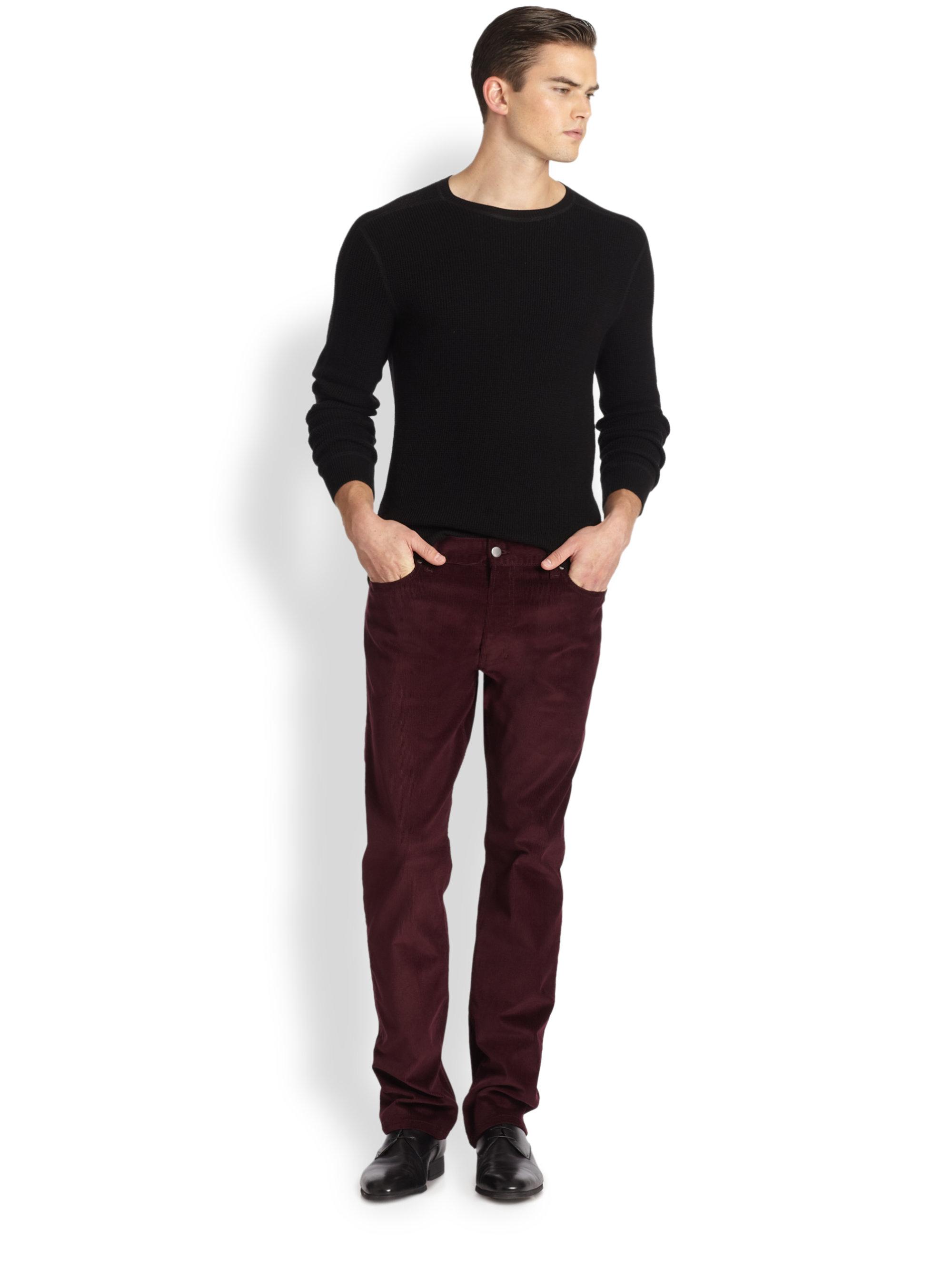 Mens Red Corduroy Pants - Fat Pants