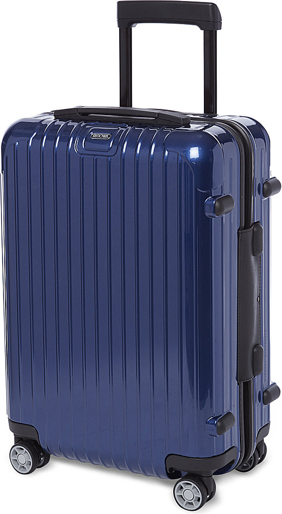 rimowa salsa four wheel cabin suitcase 55cm in blue lyst. Black Bedroom Furniture Sets. Home Design Ideas