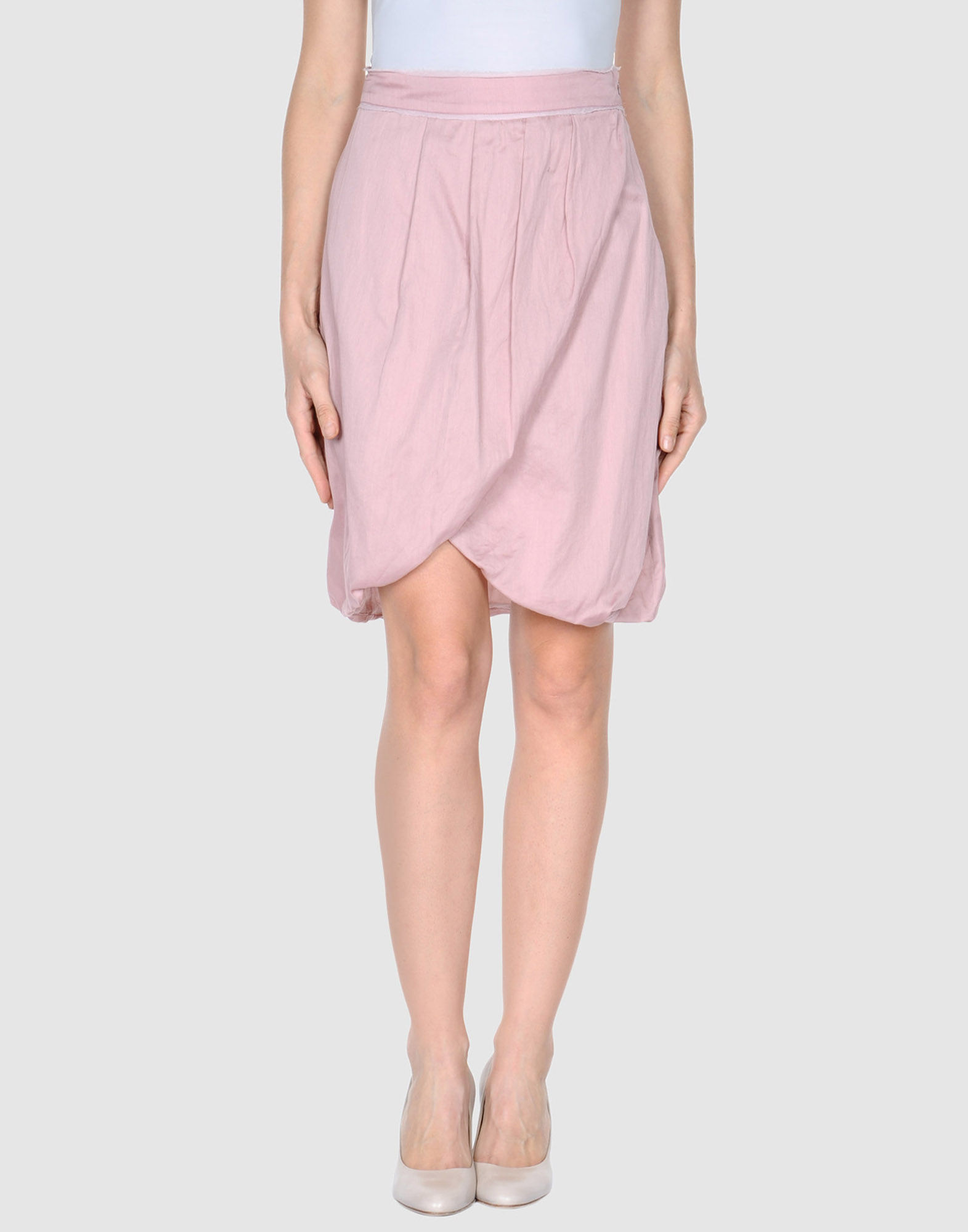 roberta scarpa knee length skirt in pink save 58 lyst