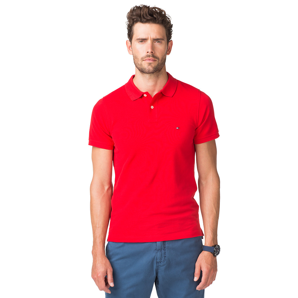 tommy hilfiger slim fit polo shirt in red for men formula one pt lyst. Black Bedroom Furniture Sets. Home Design Ideas