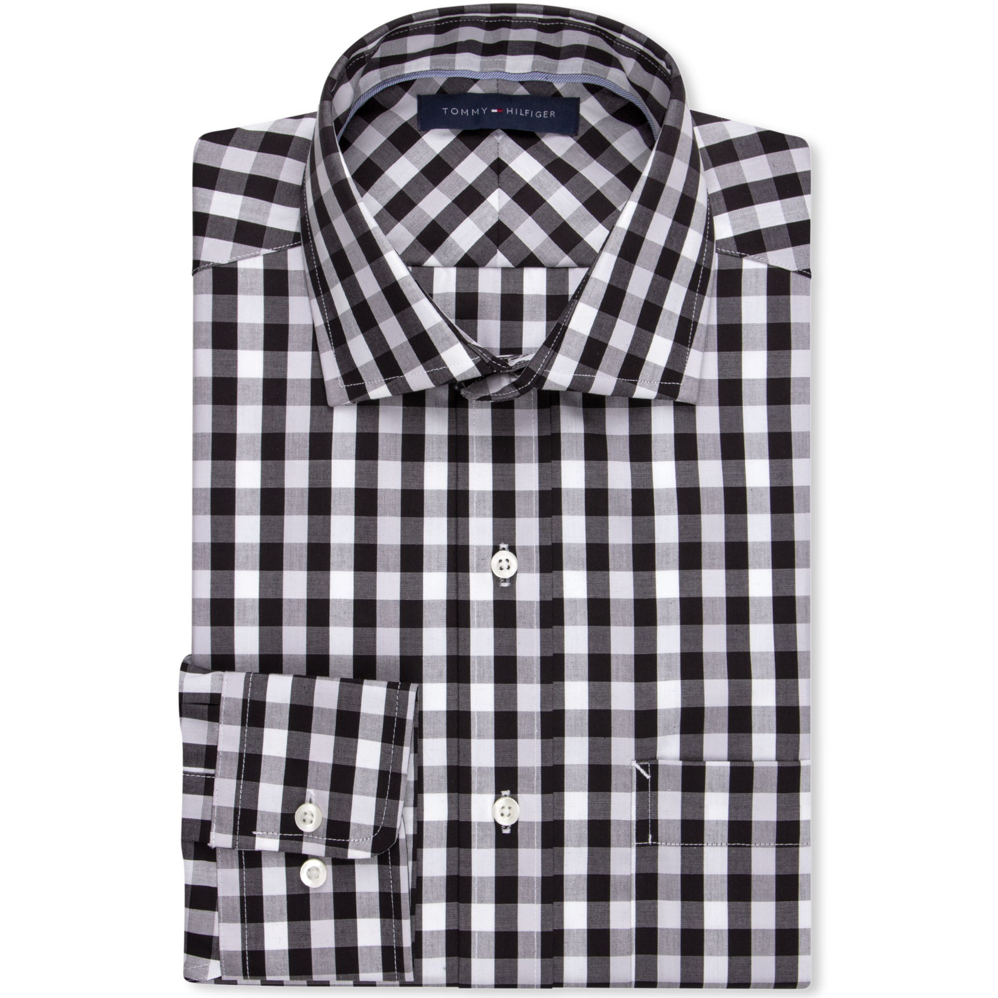 A true athletic fit crafted from our Athletic Performance Fabric, this black check dress shirt has a semi-spread collar and is as light and comfortable as it heresfilmz8.ga first glance