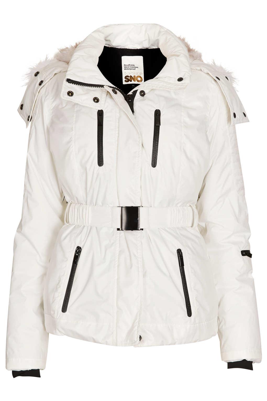 6e52ec8f3 Lyst - TOPSHOP Sno Padded Ski Jacket in White