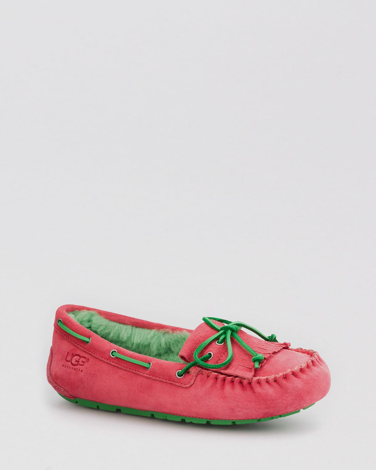 a2e75df9598 UGG Pink Moccasin Slippers Mandie